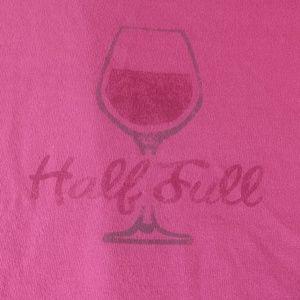 """Half Full"" Life is Good Brand T-shirt"